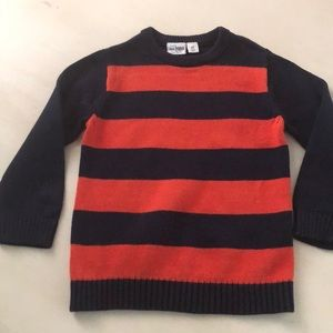 The children's place orange and navy sweater
